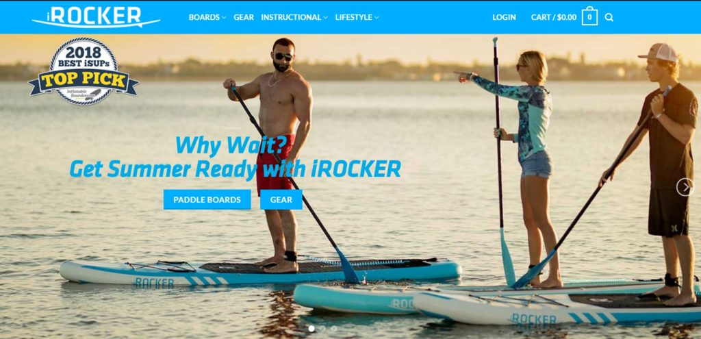 No.10 iRocker Best paddle board brand