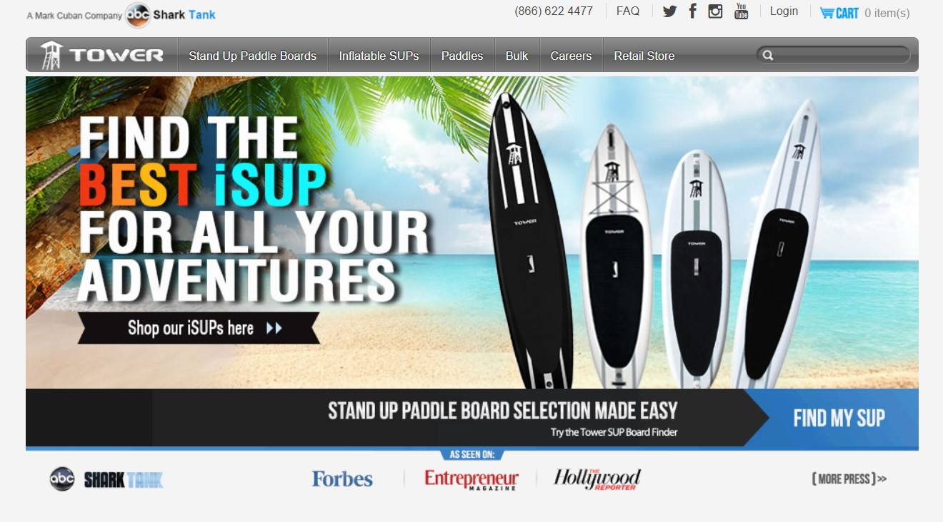 best Paddle board brand no.2 Tower