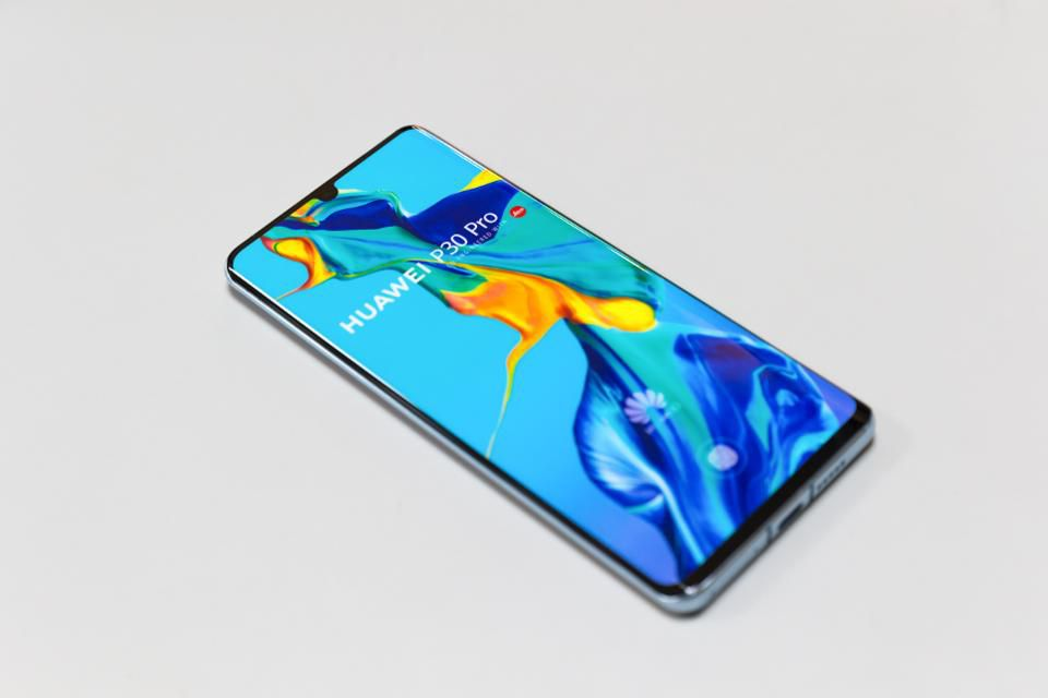 Belgrade, Serbia - April 05, 2019: Huawei P30 Pro mobile smartphone is displayed on an isolated white background. photo credit: Getty GETTY