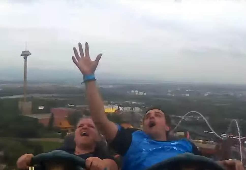 Catching an iPhone X...On a Rollercoaster...at 130km/h