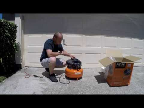 RIDGID 6 GALLON PORTABLE PANCAKE COMPRESSOR