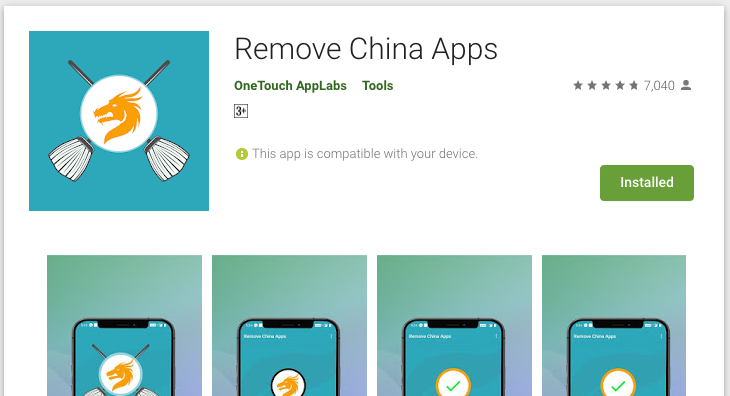 "Indian Engineer made ""Remove China Apps"" to help users remove apps Made In China. 7"