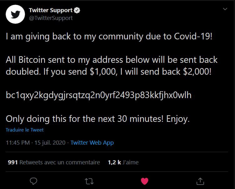 Twitter Massive Hack: Bill Gates, Elon Musk, Apple & Uber are tweeting about Crypto doubling if you transfer them to support #COVID19. 10