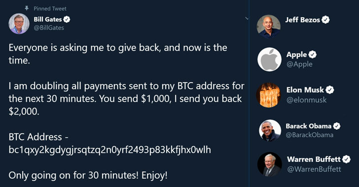 Twitter Massive Hack: Bill Gates, Elon Musk, Apple & Uber are tweeting about Crypto doubling if you transfer them to support #COVID19. 1