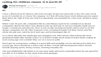 Another IIT Alumni Bashed #Whitehatjr, Calls It Garbage and Suggests Parents Keep Their Kids Away 13
