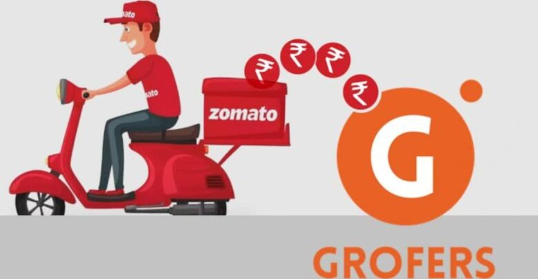 """Zomato aims to invest $100 million in """"Grofers"""" to expand its business beyond food delivery. 1"""