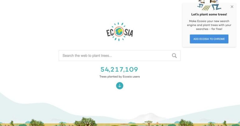 'Ecosia', a sustainable search engine, is gaining traction on the internet 1