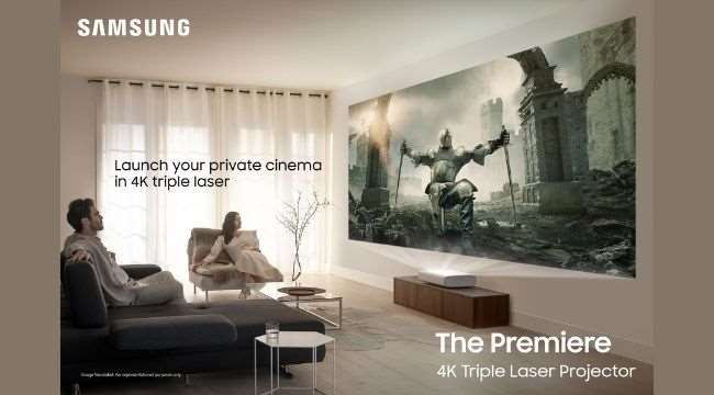 """A South Korean tech giant Samsung brought two """"Premiere Triple Laser Projectors"""" for Indian movie buffs 1"""