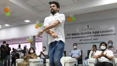 """Anurag Thakur, the Sports Minister, released """"Fit India app"""" to commemorate Fit India Initiative's second anniversary 6"""