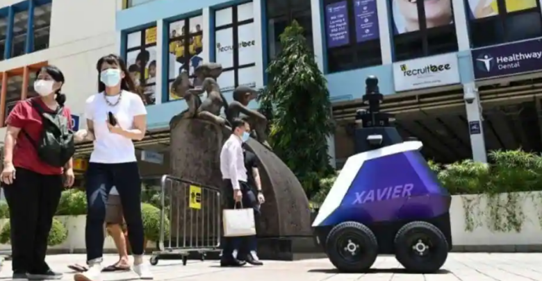 Singapore is experimenting with patrol robots to deter antisocial behavior 1