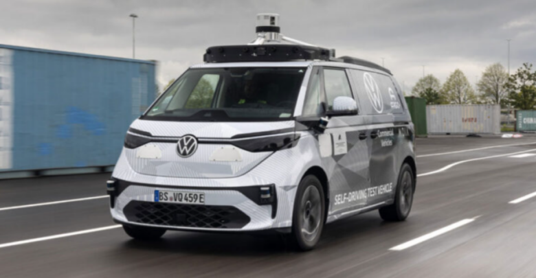 Volkswagen's vintage ID gets a high-tech makeover thanks to Argo AI. Van with a buzz 1