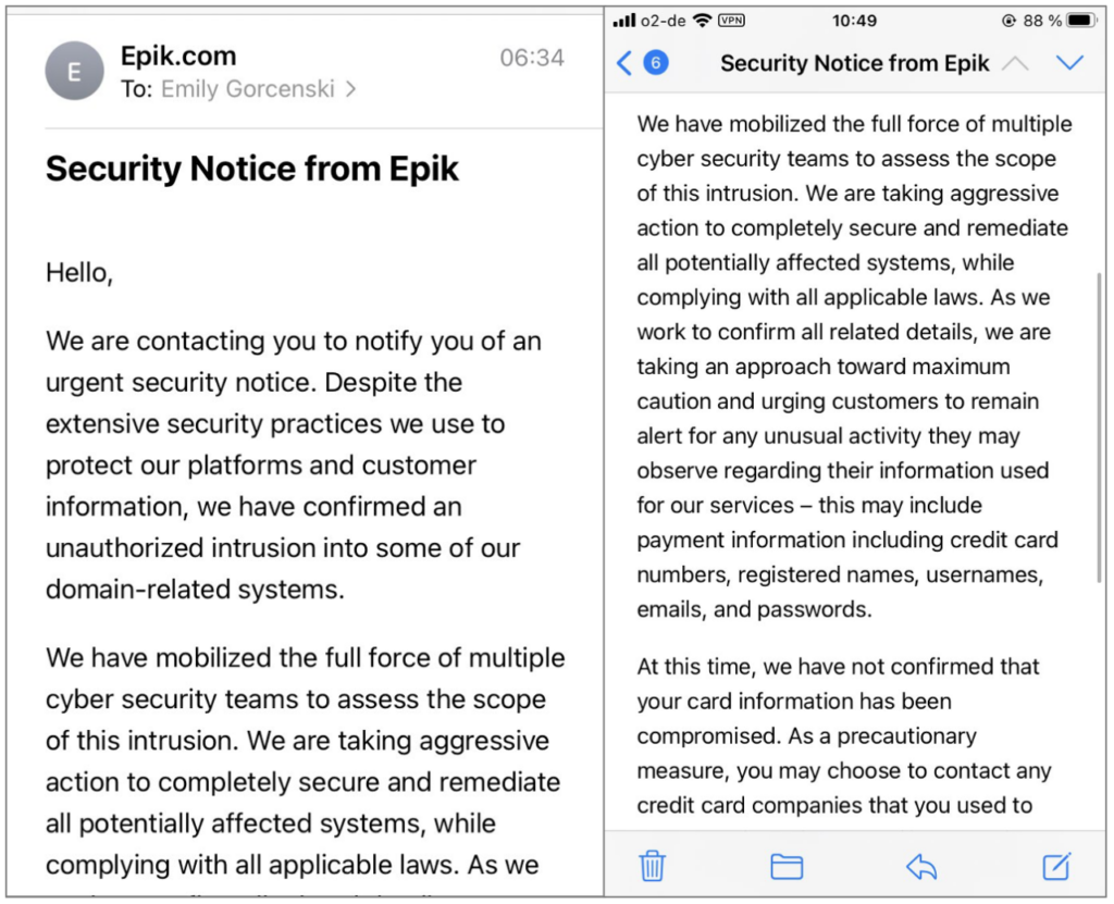 The data of 15 million users affected during the Epik data breach 1