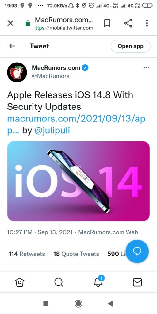 Apple has requested iOS 14 users to update their iPhones to avoid being a victim of cyber attack 2